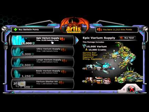 Getting Free Varium With 10,000 BattleOn Points :: Epic Duel