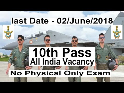Join Indian Air Force 10th Pass Group C All India Vacancy, Latest Defence Job 2018 19 IAF Jobs