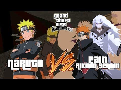 Naruto VS Pain Dan Rikudo Sennin - GTA Naruto Indonesia