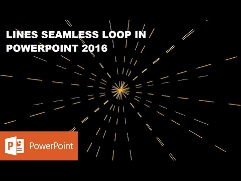 Lines Seamless Loop | How to Make Motion Graphics in PowerPoint 2016
