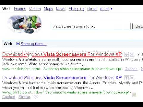How to Put A Screensaver As Your Wallpaper in XP