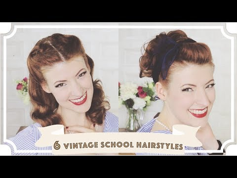 6 Easy Vintage Back To School Hairstyles [CC]