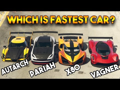GTA ONLINE AUTARCH VS X80 PROTO VS VAGNER VS PARIAH - WHICH IS FASTEST CAR Among These?