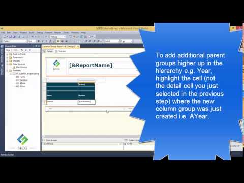 SSRS - How to Add a Column Group to an existing Table