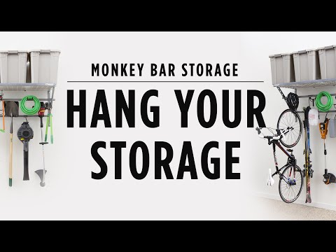 Organize Your Garage By Hanging Your Items