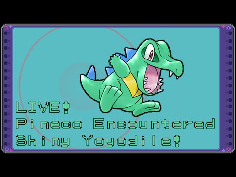 Live! Shiny Totodile on Pokémon SoulSilver!! Badge Quest #1 (The 800th of this on Youtube)