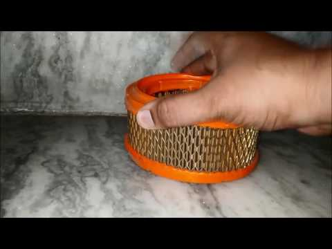 Royal Enfield Air Filter Cleaning