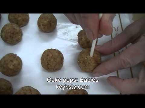 How to make Cake pops: babies cake pops