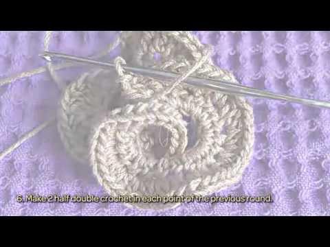 Make a 3D Crochet Flower Ornament - DIY Crafts - Guidecentral