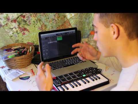 HOW TO MAKE BEAT THEN FREESTYLE Logic Pro Akai Mpk Mini