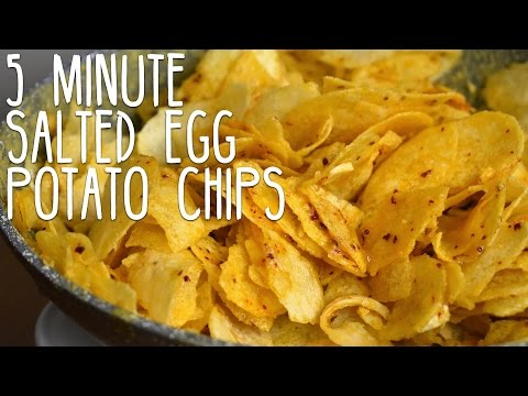 5 Minute Salted Egg Potato Chips Recipe