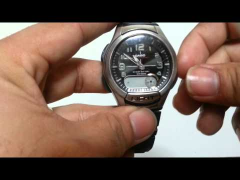 how to adjust the time on CASIO ILLUMINATOR(AQ-180W)