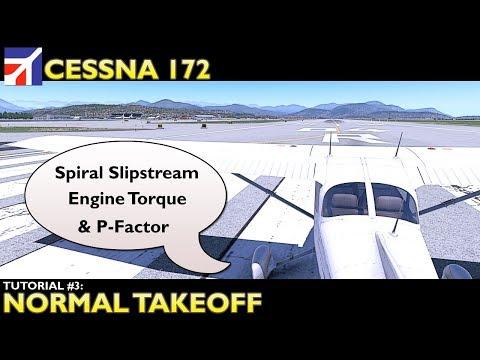 X Plane 11 : Cessna 172 : Tutorial 3 Normal Takeoff