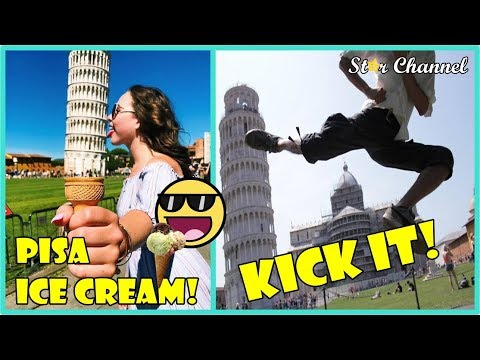 The Most Hilarious And Creative Posing at The Leaning Tower of Pisa 🌟 Awesome Ideas