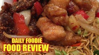 Panda Express Combo Review - Beijing Beef, Sweet Fire Chicken, Chow Mein, Fried Rice