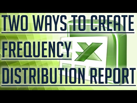 [Free Excel Tutorial] TWO WAYS TO CREATE A FREQUENCY DISTRIBUTION  REPORT IN EXCEL - Full HD