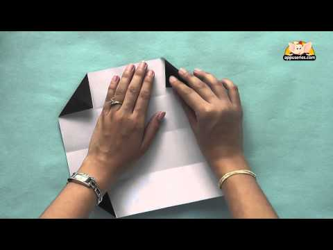 Origami - How to make a Business Card Holder - Origami in Gujarati