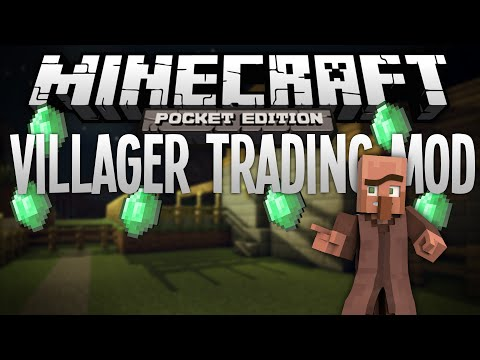 VILLAGER TRADING MOD! - Adds Trading With Villagers - Minecraft Pocket Ediion