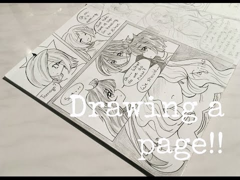 Drawing a page of my manga! //Magica♡Shoujo//