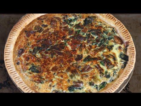 Spinach, Mushroom, & Gruyere Quiche