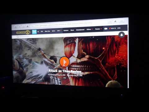 UHD Smart TV Hisense K322 web browser test