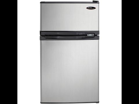 Danby DCR031B1BSLDD 3.1 cu. ft. 2 Door Compact Refrigerator, Steel Review