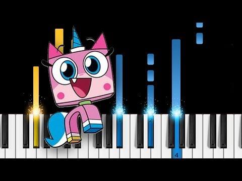 Unikitty! Theme Song - Easy Piano Tutorial