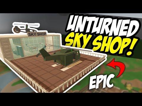 EPIC SKY SHOP - Unturned Floating Store | Shop Roleplay!