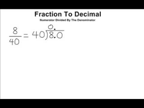 Change Fraction Into Decimal