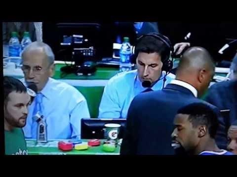 Celtics water boy drinks player's Gatorade