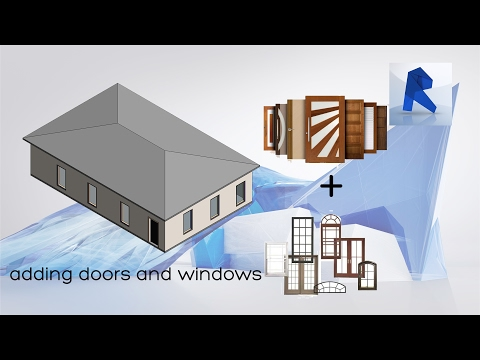 REVIT 2017 | DOORS AND WINDOWS - EASY WAY TO ADD DOORS AND WINDOWS!