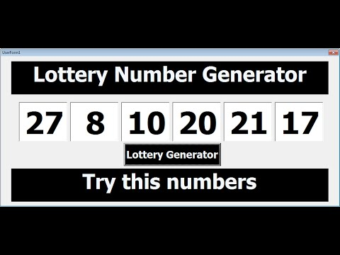 VBA Excel Lottery Numbers Generator Tutorial