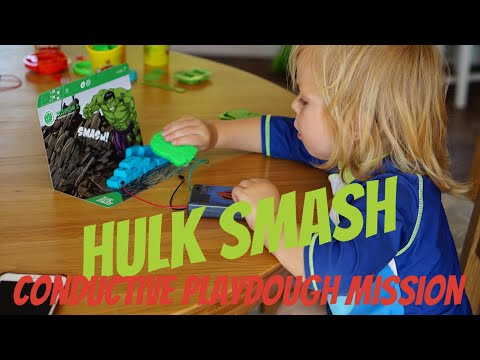 KIDS SCIENCE EXPERIMENT | PLAYDOUGH AVENGERS CONDUCTOR MISSION | AD