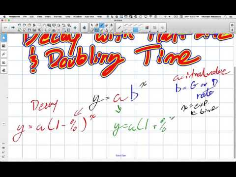 Exponential Growth and Decay with Half Life and Doubling Time Grade 11 University Lesson 3 1 1 18 16