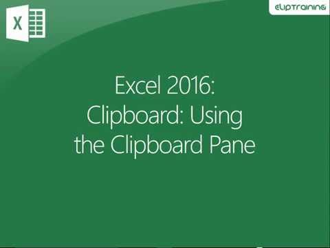 Excel 2016 - Clipboard - Using the Clipboard Pane