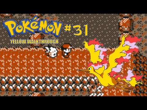 Pokemon Yellow Walkthrough Part 31 - Victory Road and Catching Moltres