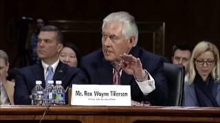 Senator Markey Questions Rex Tillerson on Nuclear Weapons, Global Health, Fentanyl - 1/11/17