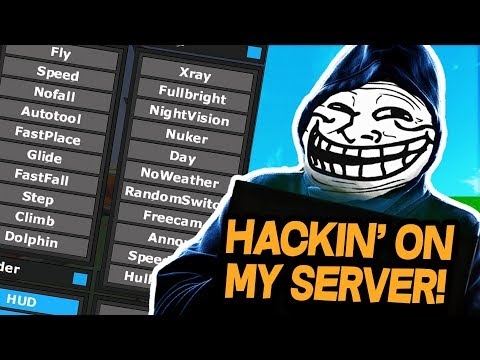 HACKING ON MY SERVER! TESTING MY NEW STAFF! (Minecraft Trolling)