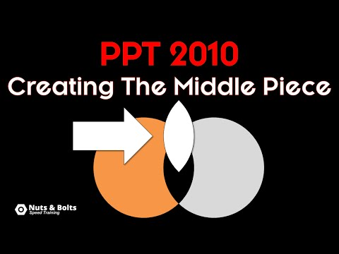 How to Create The Middle Part of Two Overlapping Circles In PowerPoint 2010