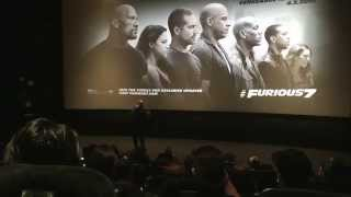 Emotional Vin Diesel Stops By Fast and the Furious 7 Early Screening in LA RIP Paul Walker 3/16/15