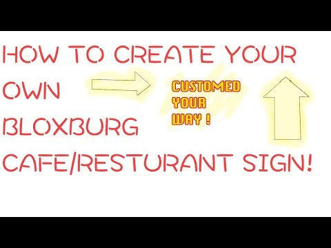 How to Make your OWN Cafe/Resturant Menu Sign ! -BLOXBURG-
