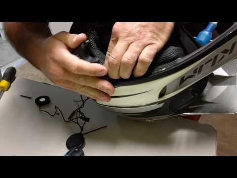 Mounting your Sena SMH10 on a dirt bike helmet.