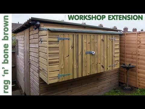 Building The Workshop Shed Extension (part 1 of 2)