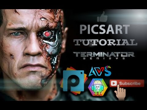 World best mobile editing app How to Make Terminator Face | Best PicsArt Studio Editing