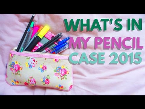 What's In My Pencil Case 2015 ?!