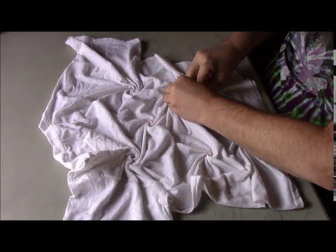How to Tie-Dye Multiple Spiral pt 1 ~ Tying