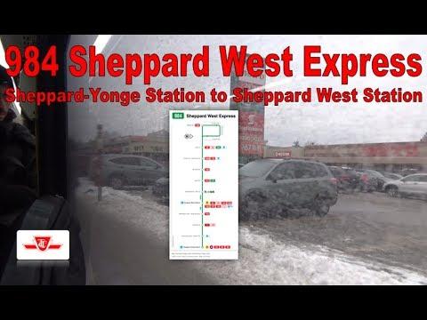 84E Sheppard West - TTC 2015 Nova Bus LFS 8510 (Sheppard-Yonge Station to Sheppard West Station)
