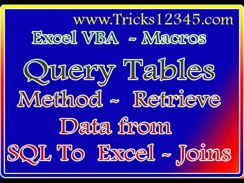 VBA Macros:  SQL To Excel Database Connection Joins All The Columns
