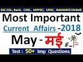 Current Affairs  May 2018  Important Current Affairs 2018 Latest Current Affairs Quiz mp3