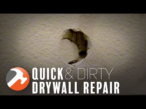 Quick and Dirty Drywall Hole Patch Secret